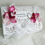 Kartka ślubna z hortensjami -