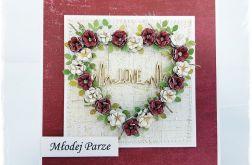 Kartka Ślubna z  sercem 12