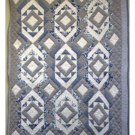 """Quilt, patchwork """"w szarości"""""""