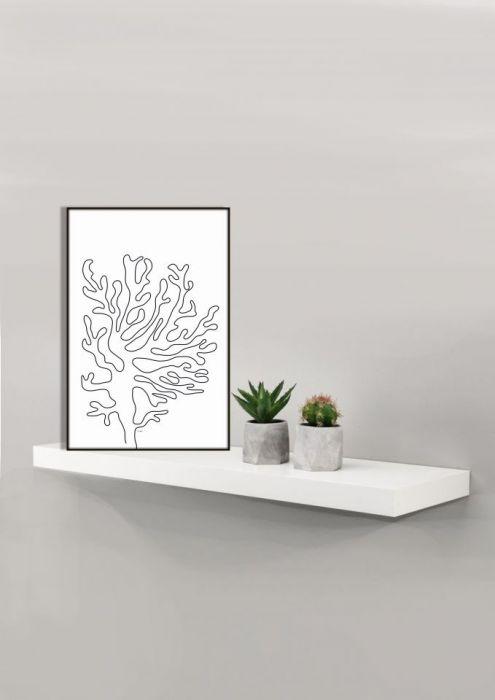 Grafika minimalistyczna Koral, Koralowiec - Minimalizm