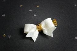 FairyBows SPINECZKA kokardka na ŚWIĘTA złoto
