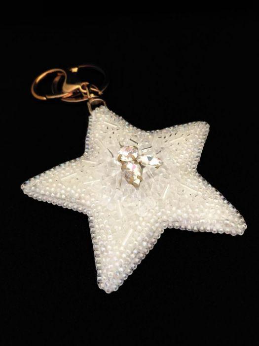 Brelok gwiazda do kluczy do torebki -