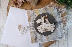 Rustykalna kartka ślubna na wesoło :)