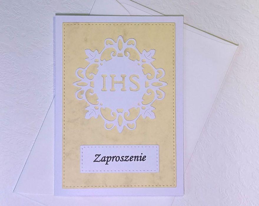 Zaproszenie z hostią nr 2 - z kopertą
