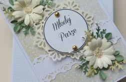 Kartka - Pastelowy - Komplet ślubny
