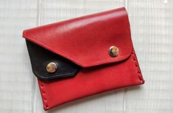 Minimalistyczny portfel czerwono czarny