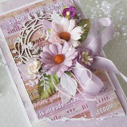 Romantyczna z bukietem kwiatów v.3