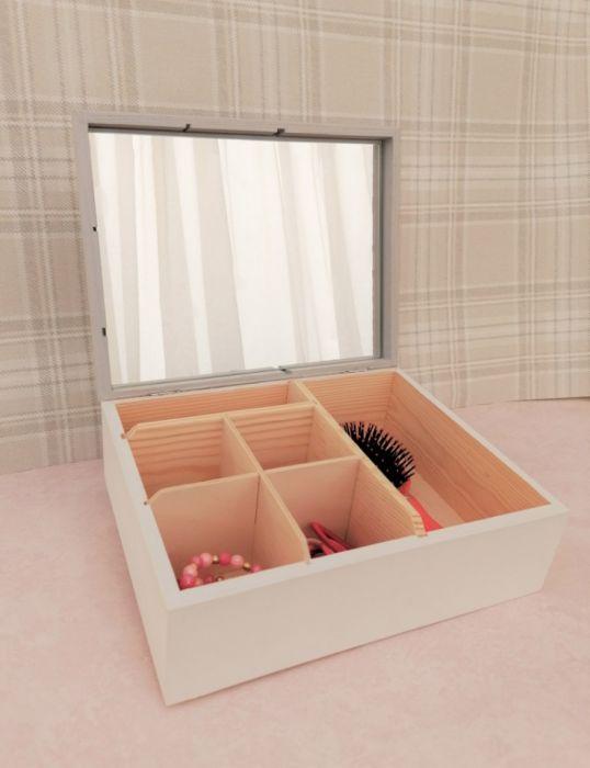 Kuferek na drobiazgi z lusterkiem- Minnie- MmC11 - szkatułka dla dziewczynek