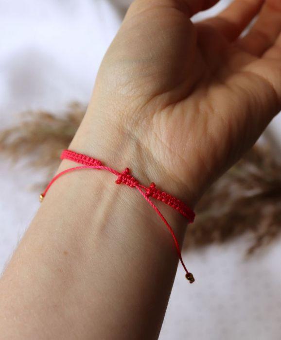 Czerwona bransoletka Relva - Bransoletka na rękę