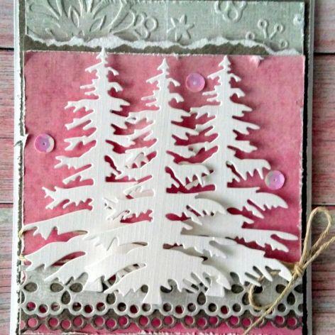 Kartka świąteczna choinki