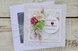 Kartka ślubna z personalizacją + pudełko b4