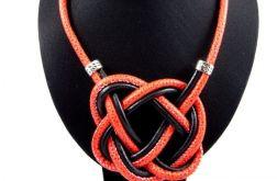 Naszyjnik - węzeł celtycki - czerwień