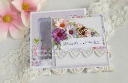 Ślubna kartka w pudełku 133