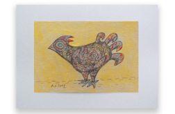 Ptaszek rysunek dekoracyjny szkic n31