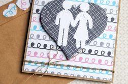 kartka ślubna :: ludziki :: doodle