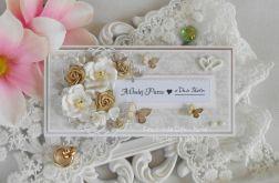 Ślubna kartka w pudełku DL 04