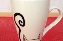 Koci kubek ręcznie malowany
