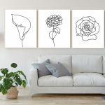 Hortensja, grafika autorska, minimalistyczna i nowoczesna - Mini galeria