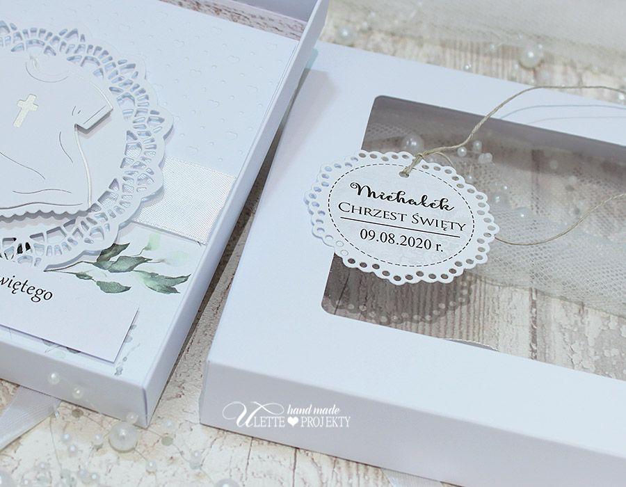 Pamiątka chrztu świętego kartka w pudełku - Pamiątka chrztu świętego kartka w pudełku
