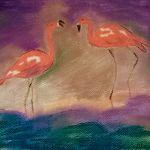 Flamingi pastel