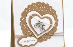 Eko baza - kartka ślubna z rowerem KS1923