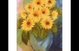 Obraz słoneczniki pastel