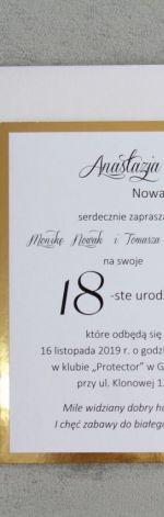 Zaproszenie na 18-stkę - dziewczyna