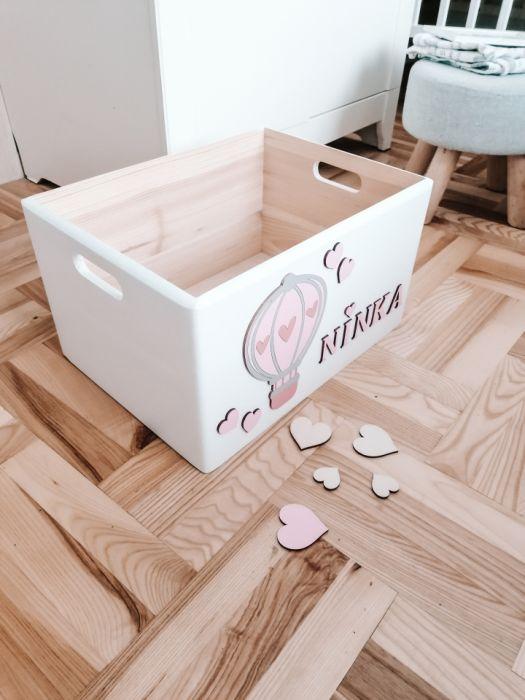 Pudełko skrzynka pojemnik na zabawki BALONIK - Skrzynka pojemnik pudełko na zabawki z balonikiem loo loo dream