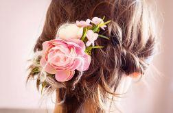 kwiatowy grzebień ślubny do włosów