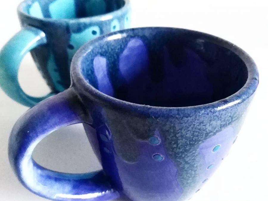 Filiżanki ceramiczne Sky&Ocean  - unikatowa kombinacja szkliw