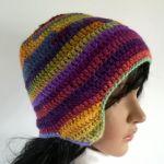 Czapka zimowa tęcza - ciepła kolorowa czapka