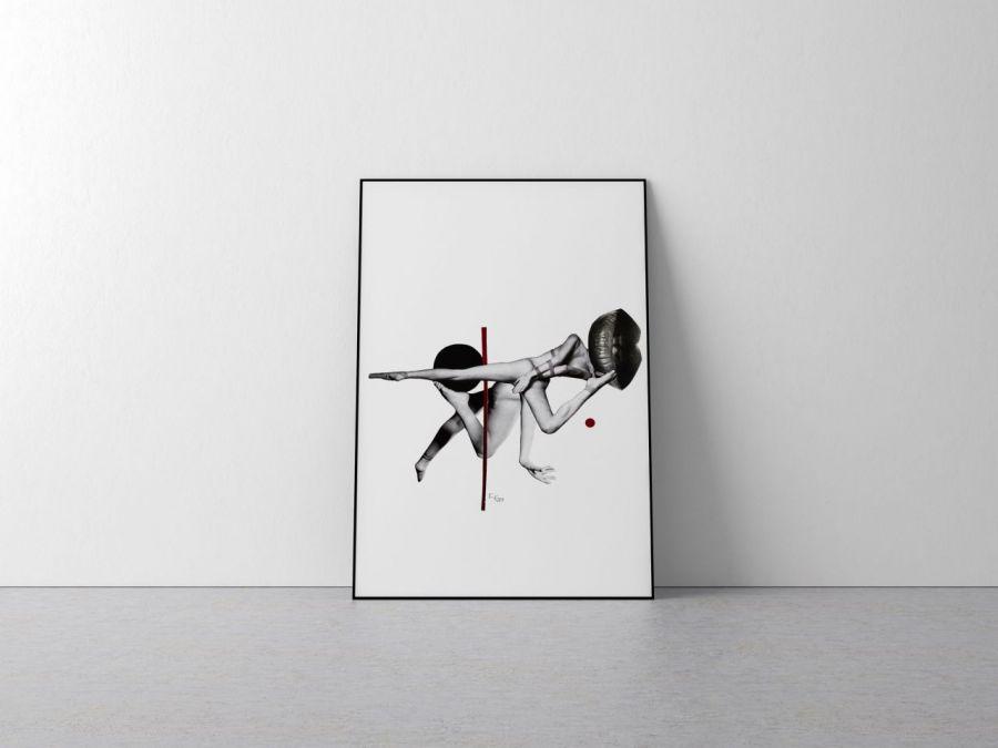 Plakat kolaż ciało A4 21x29,7 cm