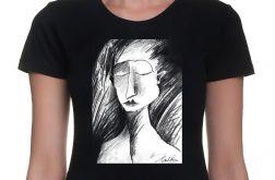 Szkic - damski t-shirt - różne kolory