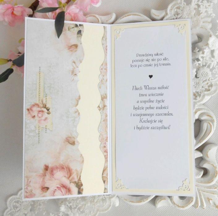 Ślubna kartka DL w pudełku 57