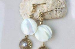 UNIKATOWE kolczyki z naturalnymi perłami