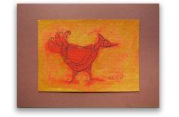 Ptaszek nr 8 - rysunek dekoracyjny