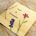 Zaproszenia ślubne z kwiatami - ręcznie robione zaproszenia
