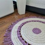 Dywan ze sznurka dywan na szydełku