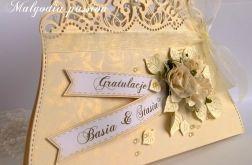 Kartka ślubna torebeczka