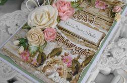 Ślubna kartka A6 w pudełku z okienkiem 07