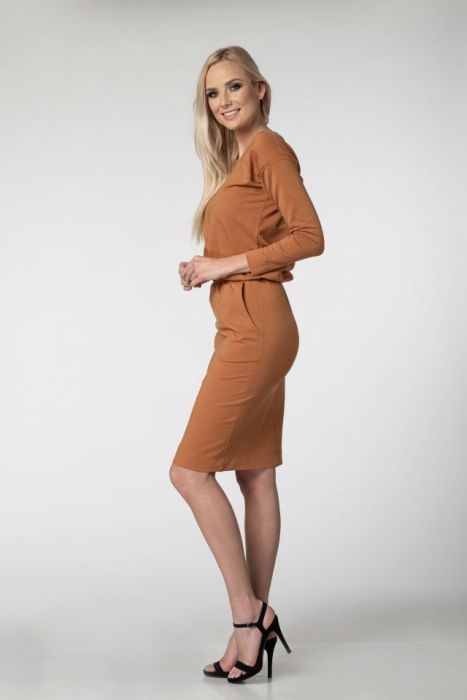 Sukienka Anna Cynamonowa