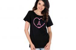 A Pink Koszulka Czarna Krótki Rękaw