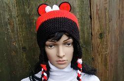 czapka szydełkowa myszka Minnie