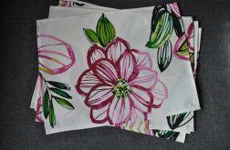 Podkładki pod talerze - różowe kwiaty 4 szt