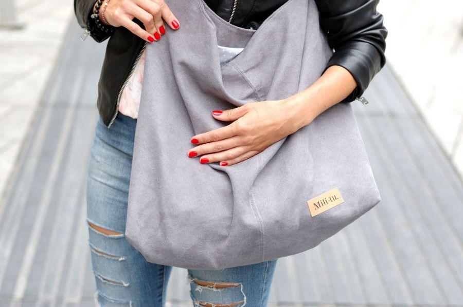 Duża torba worek MC7 - grey