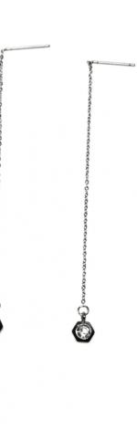 Kolczyki wiszące cyrkonie