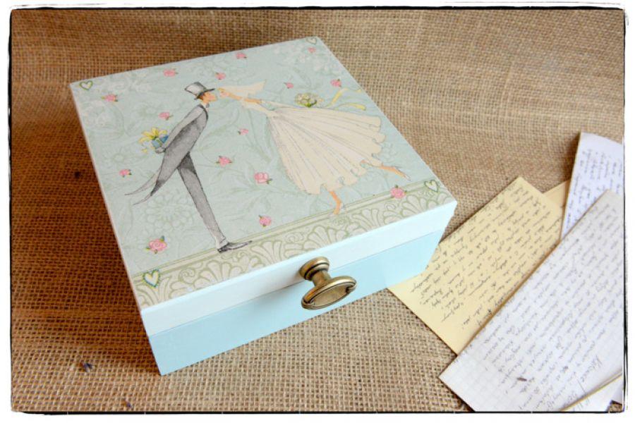 Pudełko na ślub ~Nowożeńcy~ Personalizacja