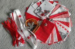 Eko Kalendarz Adwentowy  czerwien-biel