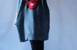 Luźna sukienka oversize z kieszeniami 01