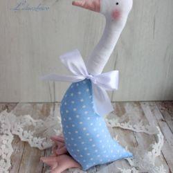 Gąska wiosna Wielkanoc błękit w kropki GOTOWA